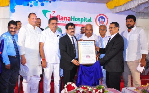 Indiana hospital NABH Accreditation Certificate handing over ceremony