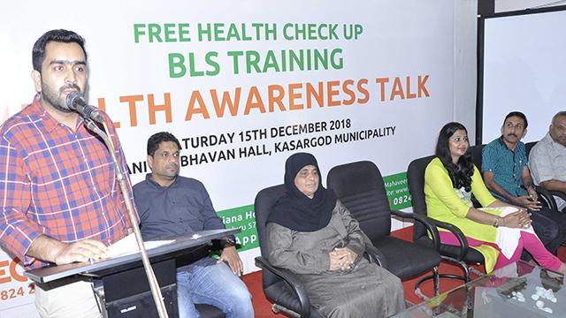 Dr Rajaram - Superindenent of Govt Hospital Kasaragod addressing the gathering.