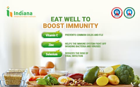 EAT WELL TO BOOST IMMUNITY